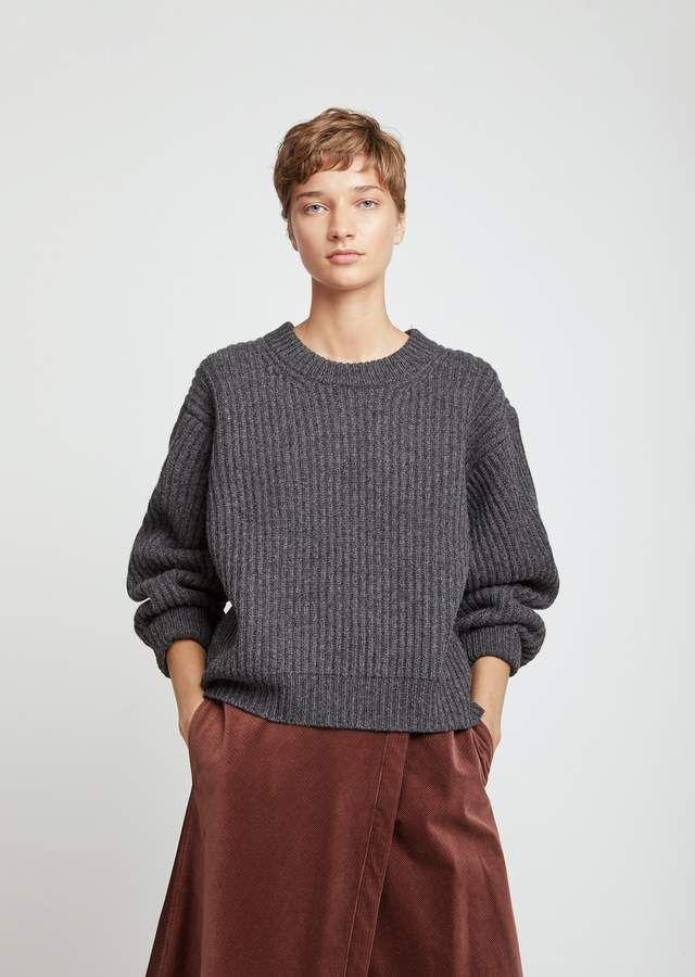 Acne Studios Boxy Crewneck Lambswool Sweater  00769966b