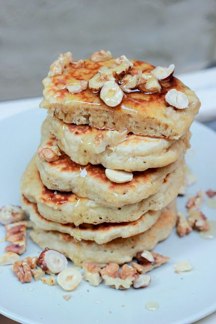 Muesli pancakes : des petites crèpes aux flocons d'avoine et aux pommes
