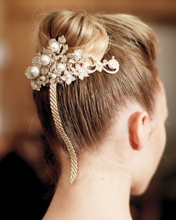 The New Tiara Put Your Own Spin On A Ballerina Bun Or Chignon By Unexpected Accessory That Upends The Traditional Tiara Like The Keren Wolf Hairpiece.......
