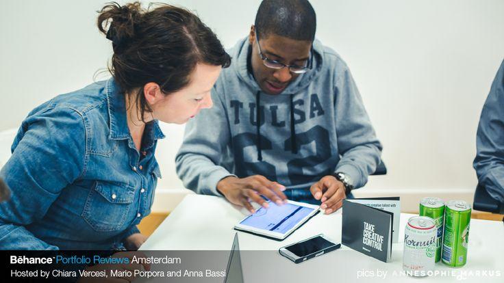 #VivianRonden from #ShopAround reviewing portfolios at #BehanceReviews in #Amsterdam