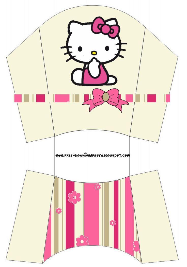 Cajitas imprimibles de Hello Kitty | Ideas y material gratis para fiestas y celebraciones Oh My Fiesta!