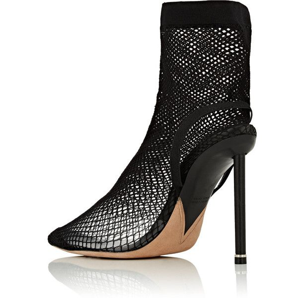 0734ad065e1 Alexander Wang Women's Caden Fishnet Ankle Boots ($995) ❤ liked on ...