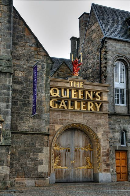 The Queen's Gallery, Royal Mile, Edinburgh, Scotland. This is in front of Holyrood Palace- across from the very contemporary Scottish Parliment. The exhibits change every year & are well worth seeing.