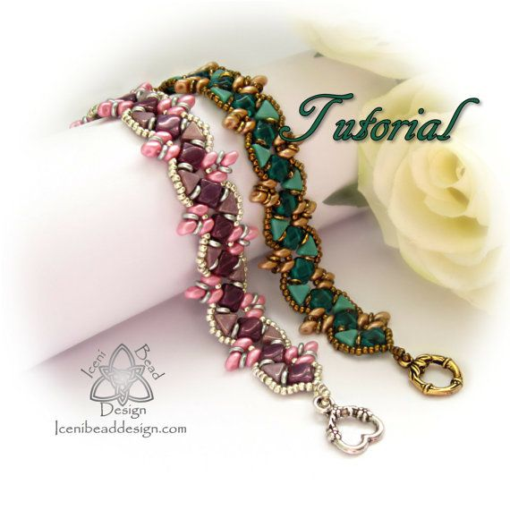 Tutorial Zara Bracelet with Kheops® Par Puca® Beads, 'O' Beads, Silky Beads and SuperDuos pdf Pattern, Instructions