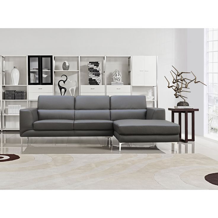 yuri grey bonded leather 2piece sectional sofa set overstock shopping big