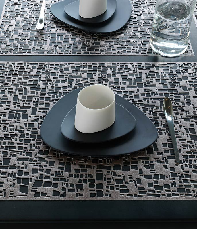 Pressed Cubic Placemats U0026 Runner By Chilewich   Spark Living   Online  Boutique For Unique Home Decor, Gifts And