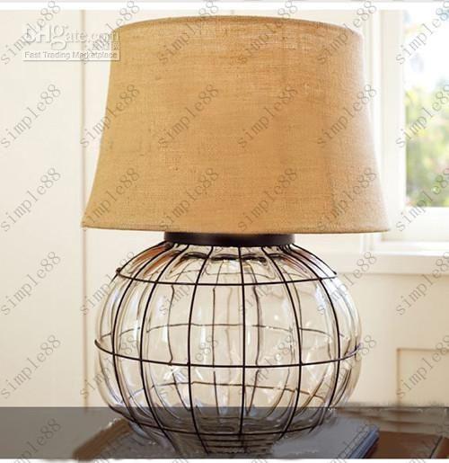 Online Cheap Crystal Glass Ball Table Lamp Crystal Desk Light Mediterranean…