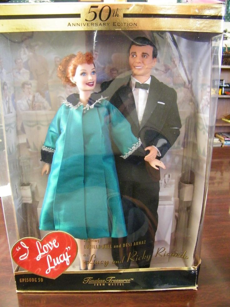 I LOVE LUCY BARBIE LUCY AND RICKY 50TH ANNIVERSARY LUCY IS