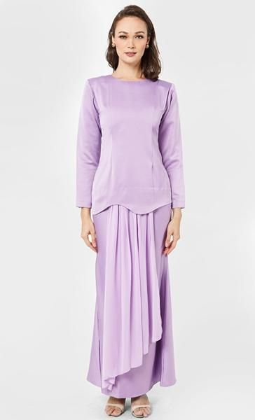 Suri Kurung Set in Purple