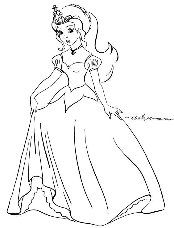 You Can Download And Print Out The Coloring Pages For Kids Young Princess From Our Website