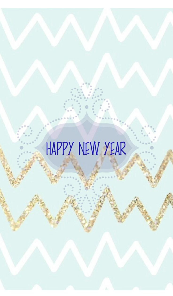 Wallpaper iphone new year - Happy New Year Mint And Gold Chevron Wallpaper