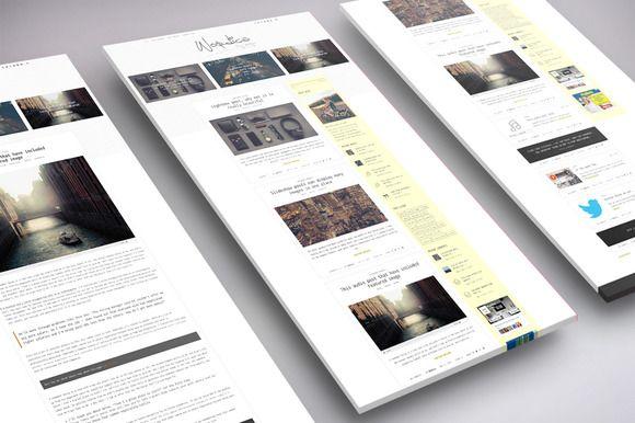WordPress Blog Theme - Paper Minimal by Wordica on ETSY