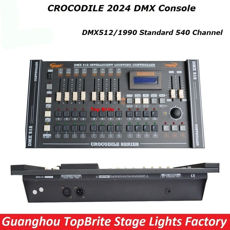 180.00$  Buy here - http://aliu5q.worldwells.pw/go.php?t=32779378528 - 2017 CROCODILE 2024 DMX Console DMX512 Controller DMX Lighting Controller For 20 Pcs Computer Stage Lights Moving Head Light