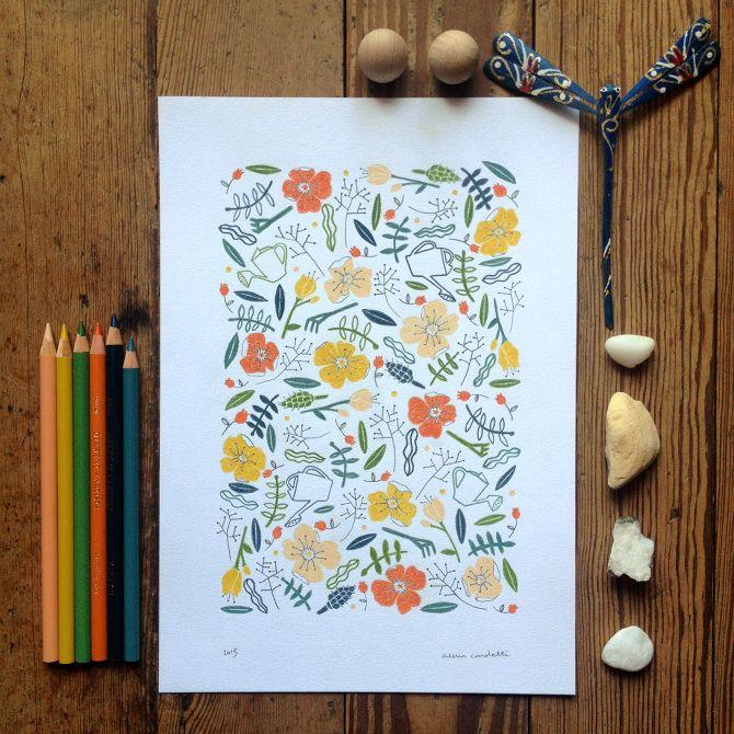 nel giardino - valeria cardetti illustration