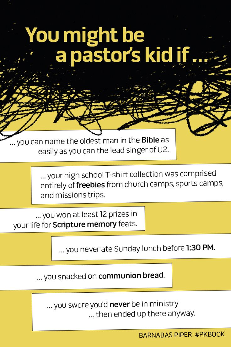 Pastors' kids, can you relate? Know a pastor's kid who can? REPIN and add to the list in the comments below! :) #PKbook