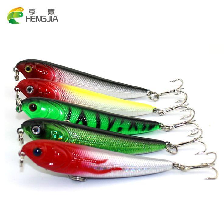HENGJIA 20PCS 7cm 5.8g Fishing Lure Minnow Hard Bait 3 Fishing Hooks pesca Fishing Tackle isca artificial 3D Eye fishing wobbler