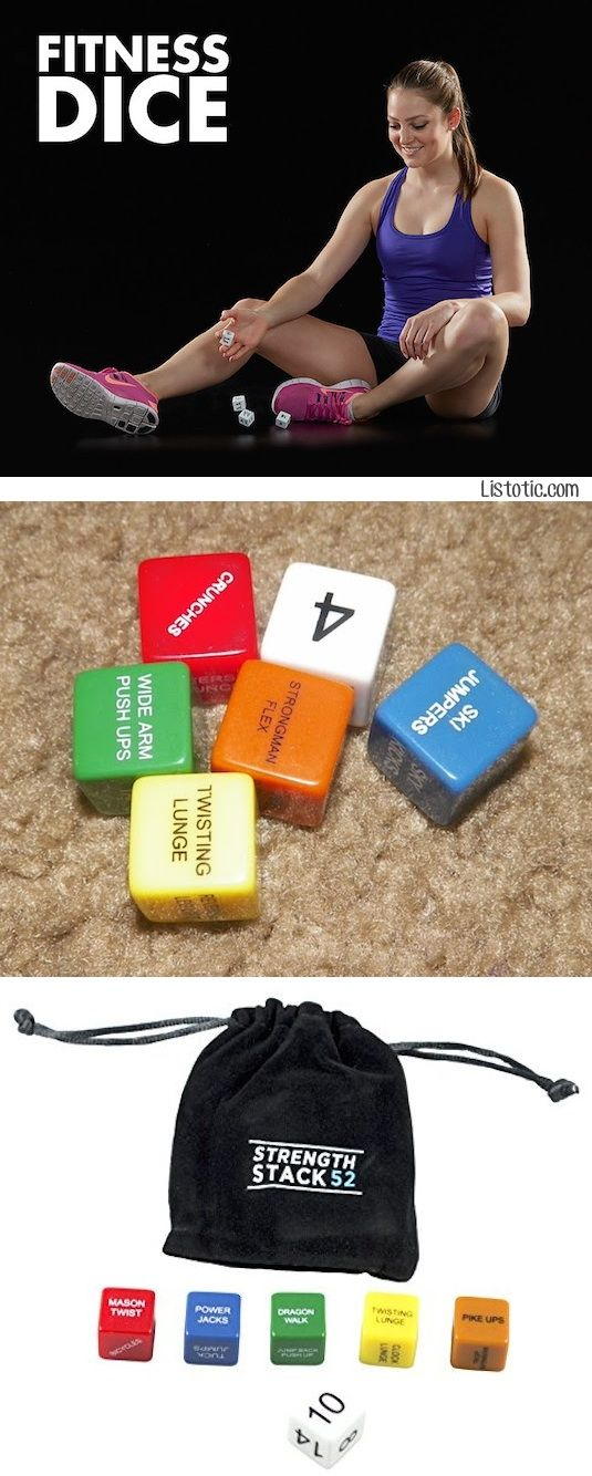 #7. Fitness Dice -- Are you up for the challenge? Roll the dice for a new and fun workout routine every day. Each color represents a different muscle group.
