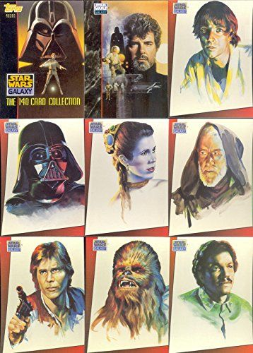STAR WARS GALAXY SERIES 1 1993 TOPPS COMPLETE BASE CARD SET OF 140 //Price: $24.99 & FREE Shipping //     #starwarscollection
