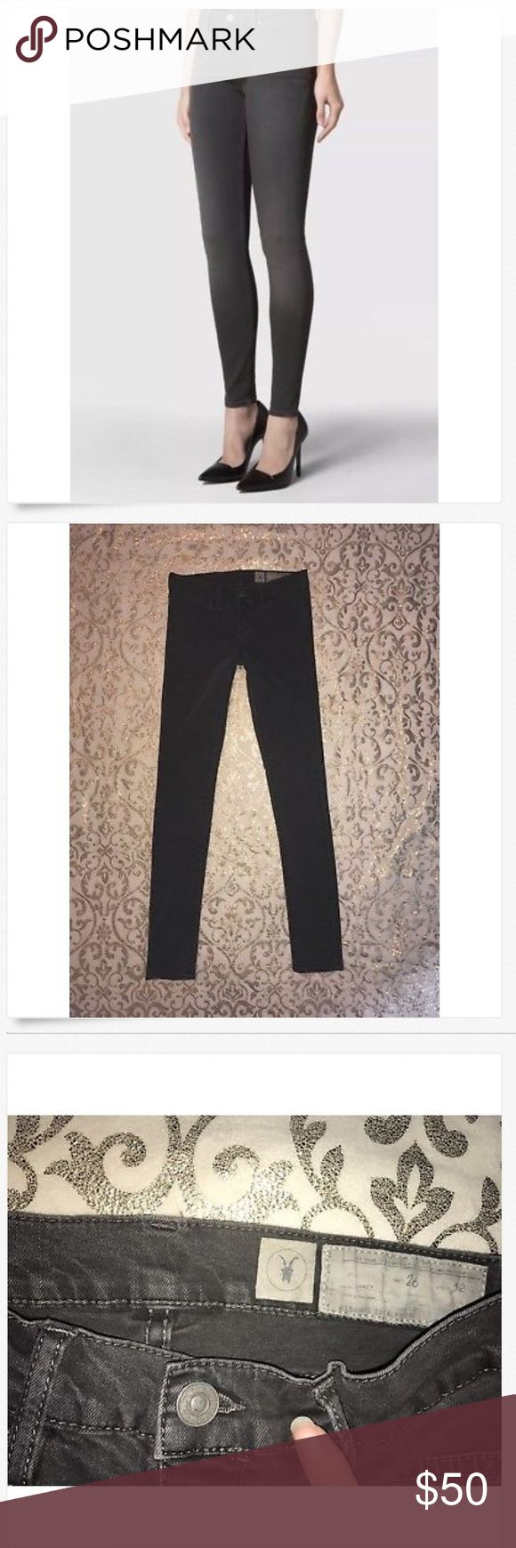 All Saints Spitalfields ASHBY Super Skinny Jeans! All Saints Spitalfields Mid Rise ASHBY Super Skinny Grey Jeans! 26 x 29 Great Used!! 98% cotton & 2% spandex 13 across & 7 rise All Saints Jeans Skinny