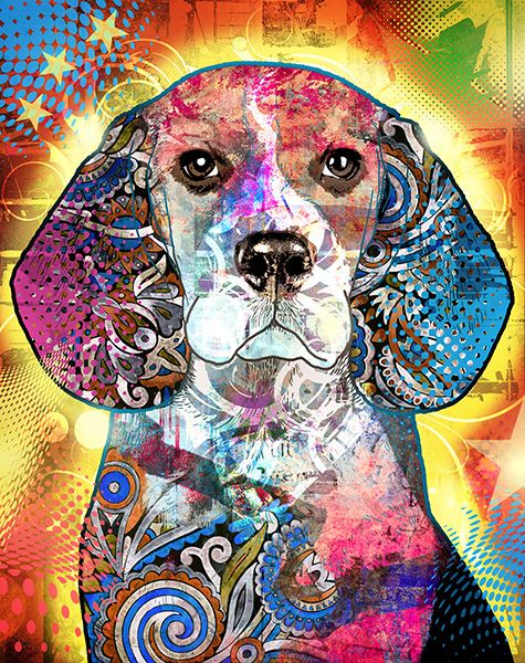 JF_0050_GR35 Cuadro Beagle Pop Art