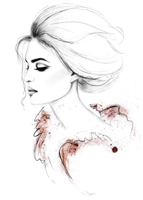 fashion illustration by Kornelia Debosz: