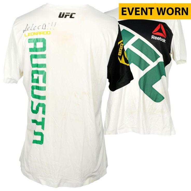 Leonardo Augusto Ultimate Fighting Championship Fanatics Authentic Autographed UFC Fight Night: Cowboy vs. Cowboy Event-Worn Walkout Jersey - Fought Anthony Smith in a Middleweight Bout