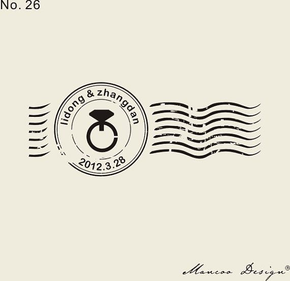 """Бесплатная доставка логотип печать ( 2.7 """" x 1.1 """" ) кольцо марки марка персонализированные штамп день свадьбы купить на AliExpress"""