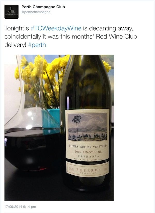 TC Weekly Roundup 2 - Perth Champagne Club Twitter