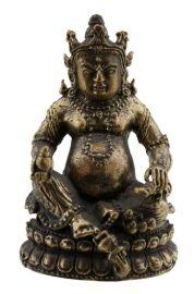 Amulette tibetaine statuette Jambhala Kubera Dzambhala