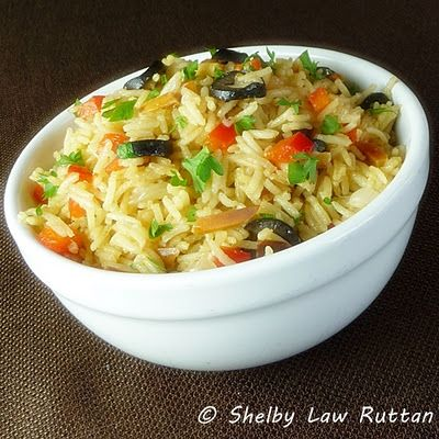 Saffron Almond Rice Pilaf | Pasta and rice | Pinterest