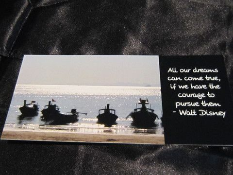 DL Card - Boats - Inspirational Quotations on magnificent scenery.  Comes with white envelope.  Come, be inspired!