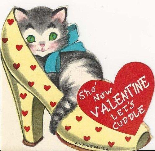 533 best Valentine's Day Cats images on Pinterest | Vintage ...