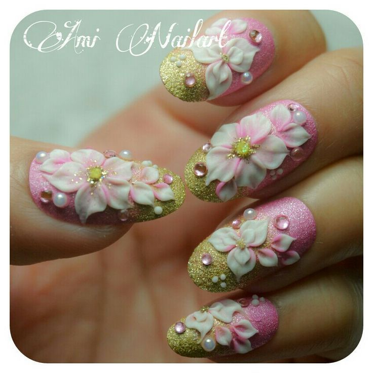 3D Blume #nail #nails #nailart … – mach mich schön – # 3D #beautiful #flower …   – Nagels Art