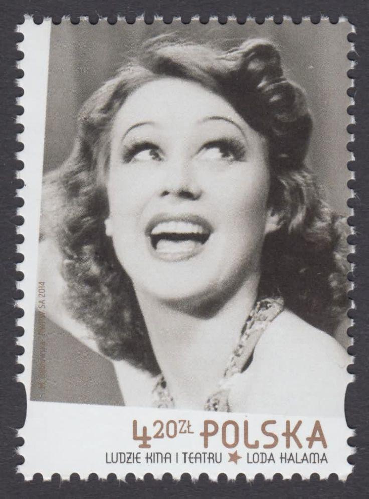 znaczki ludzie kina i teatru -      Loda Halama