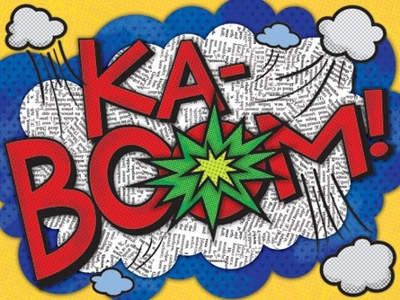 KaBoom! Canvas Reproduction