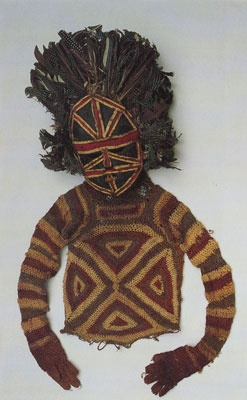 Africa   Mask and costume worn during the Mukanda (boy's initiation) ceremony.  Chokwe people, Angola   National Museum of Ethnology, Lisbon