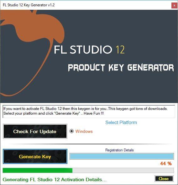 Key generator fl studio 12