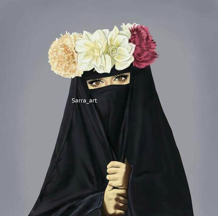 Pin By Rabiatul Shah On برقع Muslim Women Hijab Muslim Girls Hijab Cartoon
