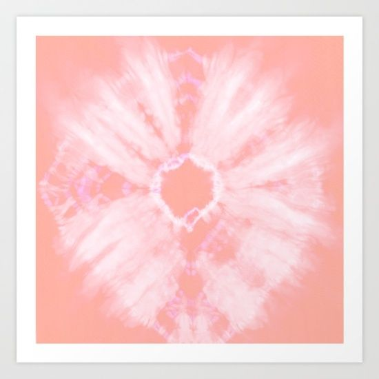 Tie Dye Pink Art Print by Amy Sia. Worldwide shipping available at Society6.com. Just one of millions of high quality products available.
