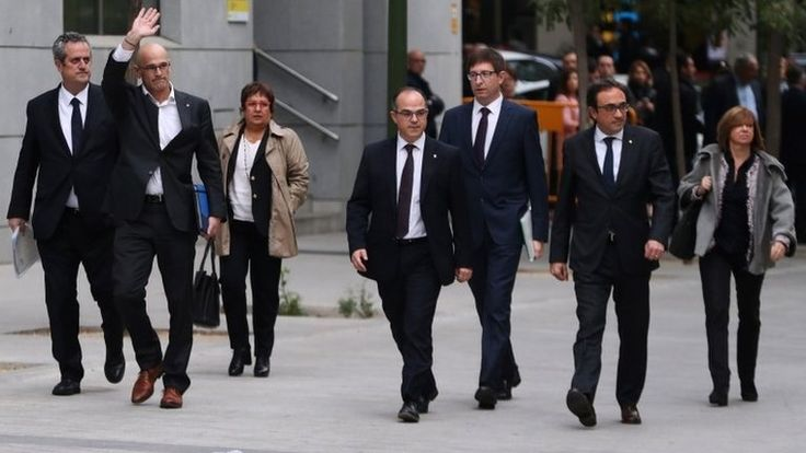 Eight former government members are remanded in custody over the push for independence.
