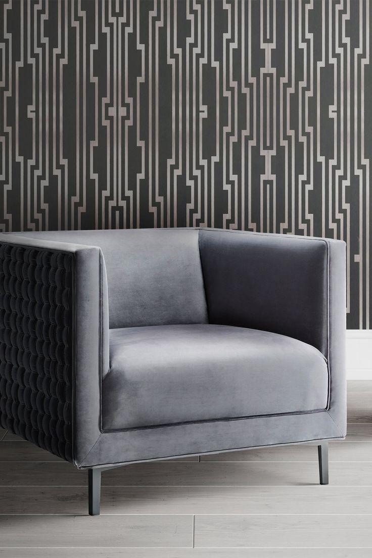 TOV Furniture Sal Grey Woven Chair Woven chair