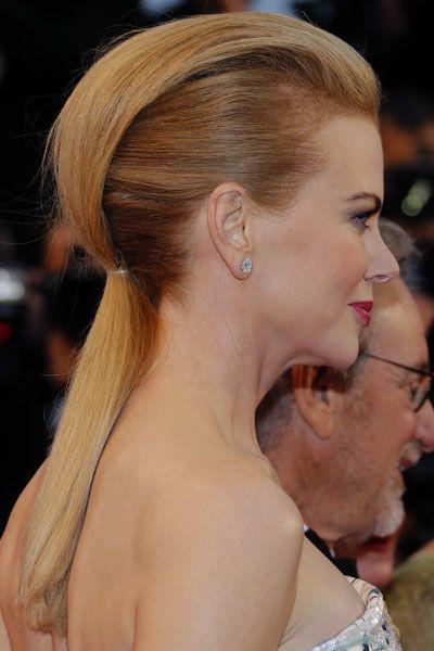 Nicole Kidman et sa queue-de-cheval en demi lune par le coiffeur John Nollet au Festival de Cannes 2013.