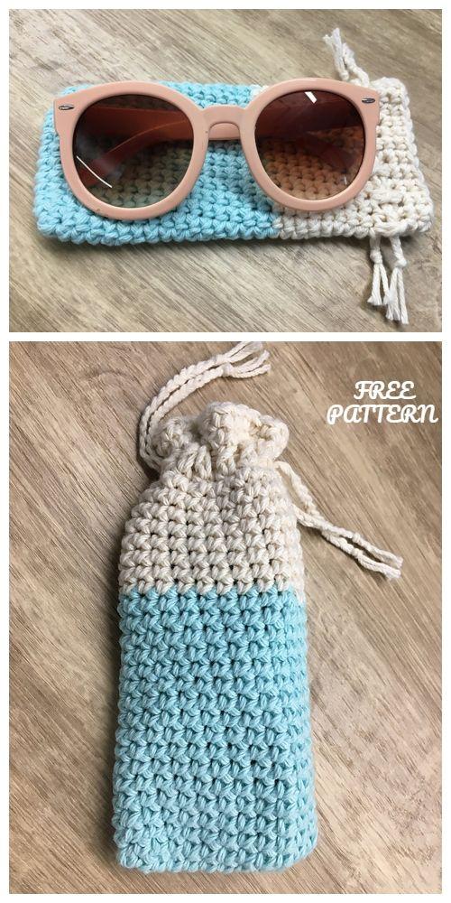 Crochet Sunglasses Pouch Padrões De Crochet Gratuitos
