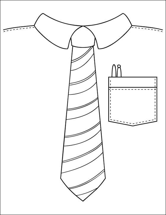 Dessin et coloriage Cravate à imprimer   Coloriage à imprimer gratuit