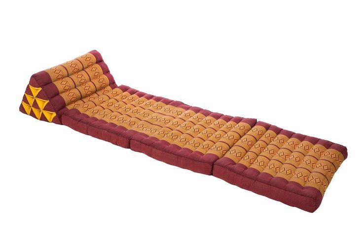 Thai Triangle Mat Kapok Filling burgundy copper red boho moroccan style floor cu in Möbel & Wohnen, Möbel, Ottomane & Fußhocker   eBay!