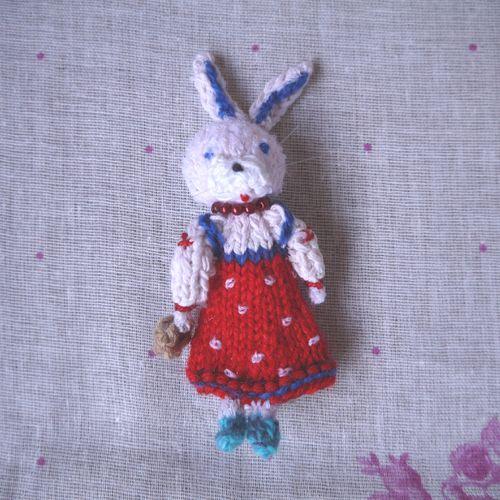 指人形「ロシアうさぎ・女の子」 | マールイ・ミール<通販部>