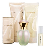 RARE PEARLS 5-Piece Fragnce Layering Collection - Only $19.99  Purse Spray  .5 fl. oz. A $ 10 value.    Body Lotion  6.7 fl. oz. A $ 10 value.    Shimmering Body Powder  1.4 oz. net wt. A $ 5.50 value.    Eau de Parfum Spray  1.7 fl. oz. A $ 23 value.    Pearlized Shower Gel  6.7 fl. oz. A $ 10 value.