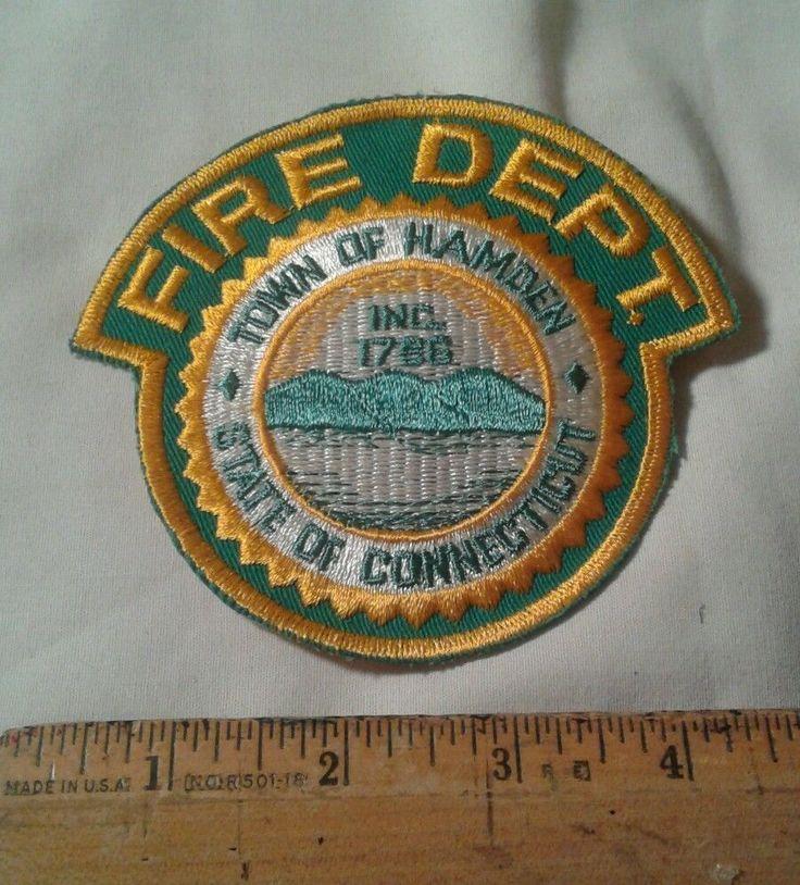 Town of Hamden Connecticut Fire Department Firefighter Patch