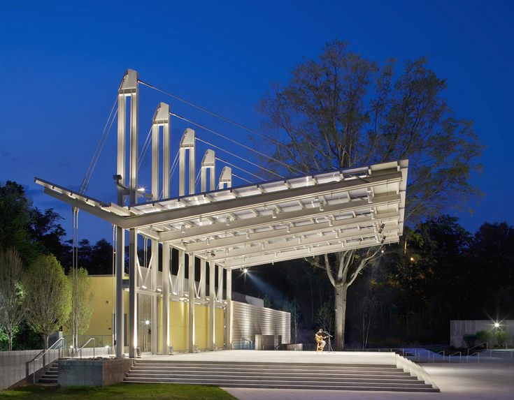 metal canopy edge | Fayetteville Festival Park / Pearce Brinkley Cease + Lee PA ...