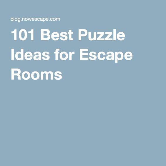 101 Best Puzzle Ideas for Escape Rooms